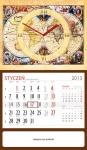 kalendarz reklamowy jednodzielny, kalendarze reklamowe z zegarem zdjęcie, kalendarze reklamowe zdjęcie
