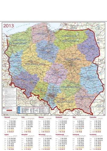kalendarz reklamowy mapa Polski, kalendarze reklamowe planszowe zdjęcie, kalendarze reklamowe Polska